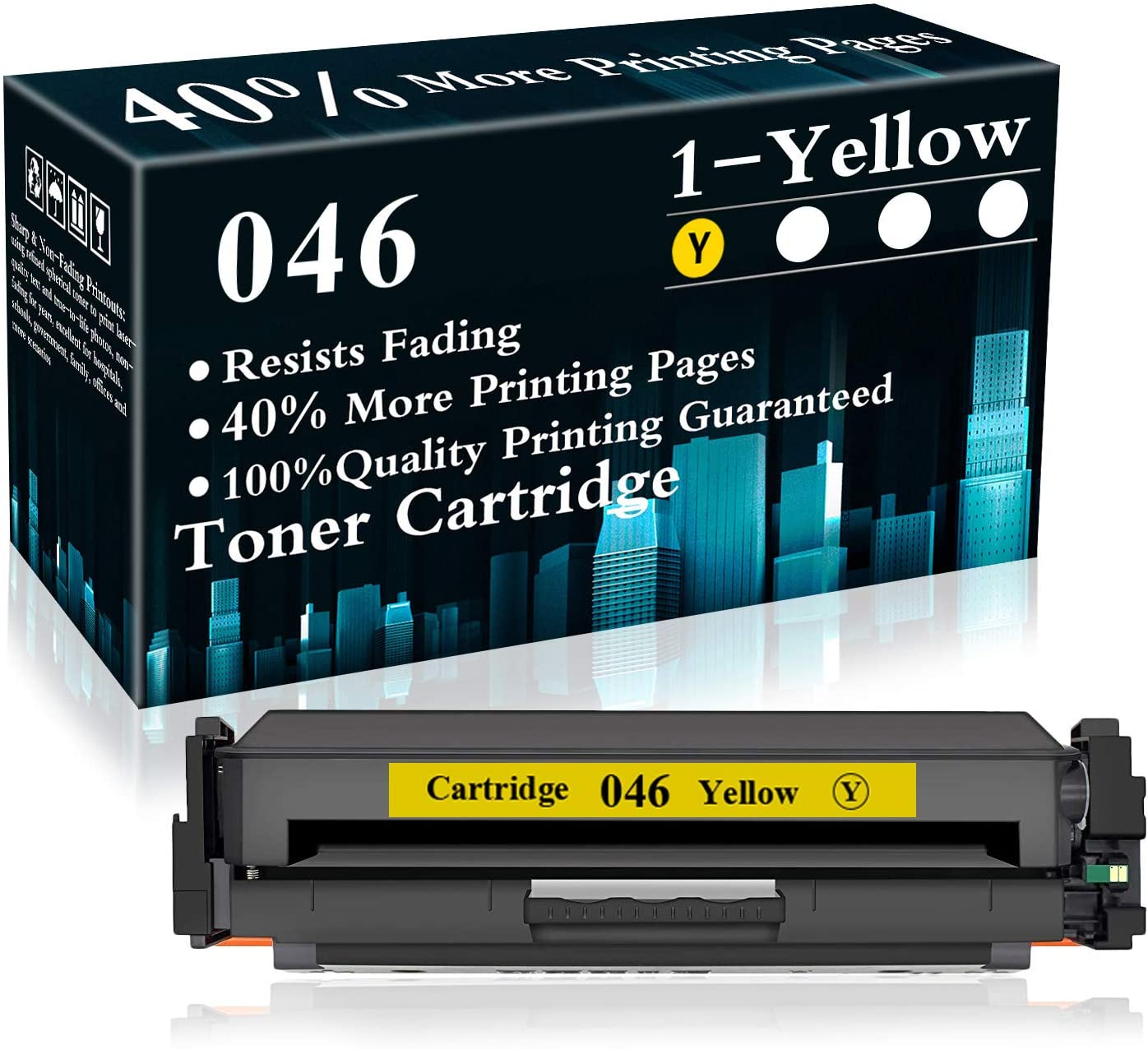 1 Pack Cartridge 046 Yellow Toner Cartridge Replacement for Canon Color Image Class LBP654Cdw MF735Cdw MF731Cdw MF733Cdw Printer,Sold by TopInk