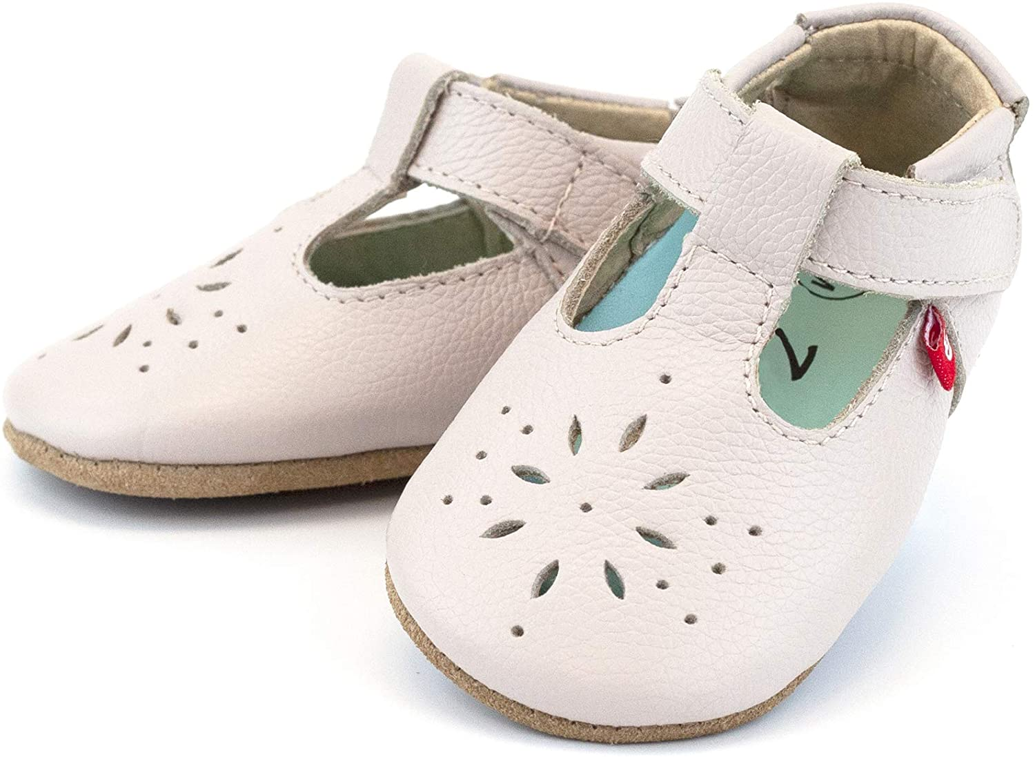 Zutano Easy On Leather Mary Jane Baby Shoes, Anti-Slip and Soft Sole