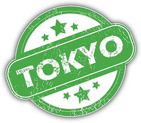 KW Vinyl Tokyo Grunge Rubber Travel Stamp Truck Car Window Bumper Sticker Decal 5
