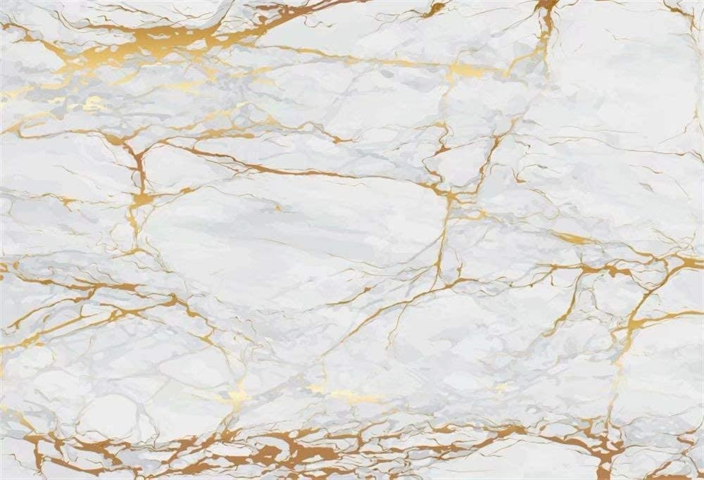 DaShan 7x5ft Polyester Gold Marble Marble Food Newborn YouTube Backdrop Cake Smash 1st Birthday Marble Texture Wedding Bridal Shower Birthday Photography Background Online Store Jewelry Photo Props