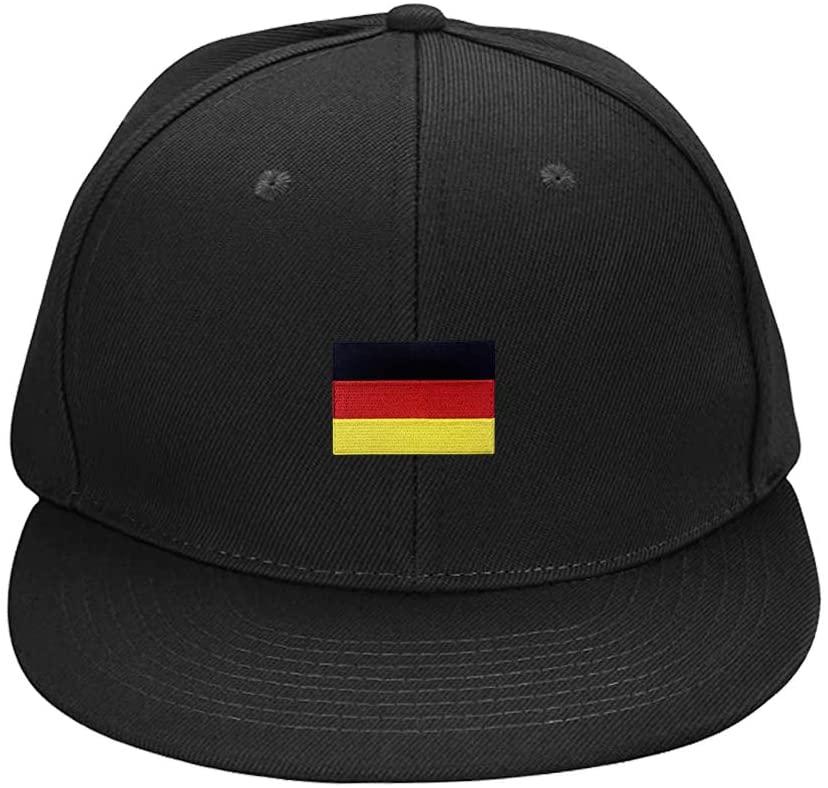 Baseball Caps 2 Pcs Black Embroidered German Flag Personalized Unisex Snapback Hats Adjustable Hip Hop