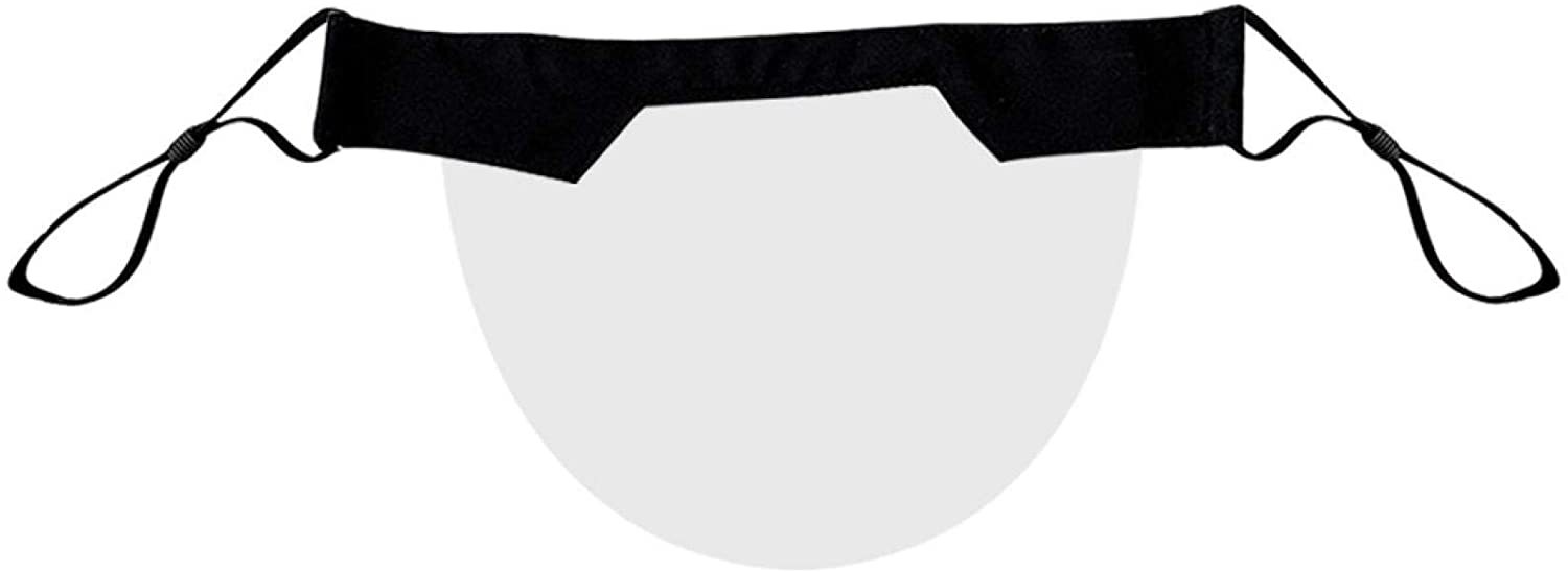 1/2/3/4/5/10PC Adult PVC Transparent Mouth Shade,Washable,Reusable (1, Black)