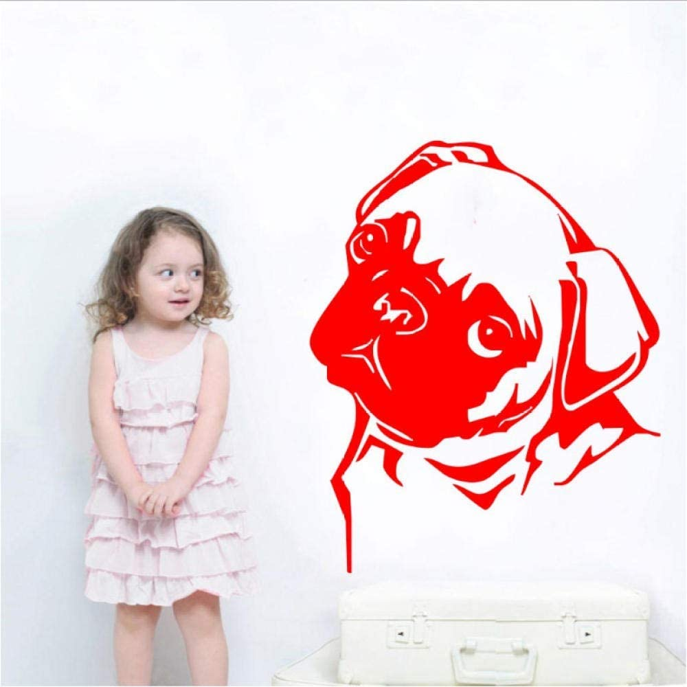 oppsq Art Home Decor Animal Pug Head Face Wall Decal Vinyl Sticker Room House Decoration Mural Poster 50X60Cm
