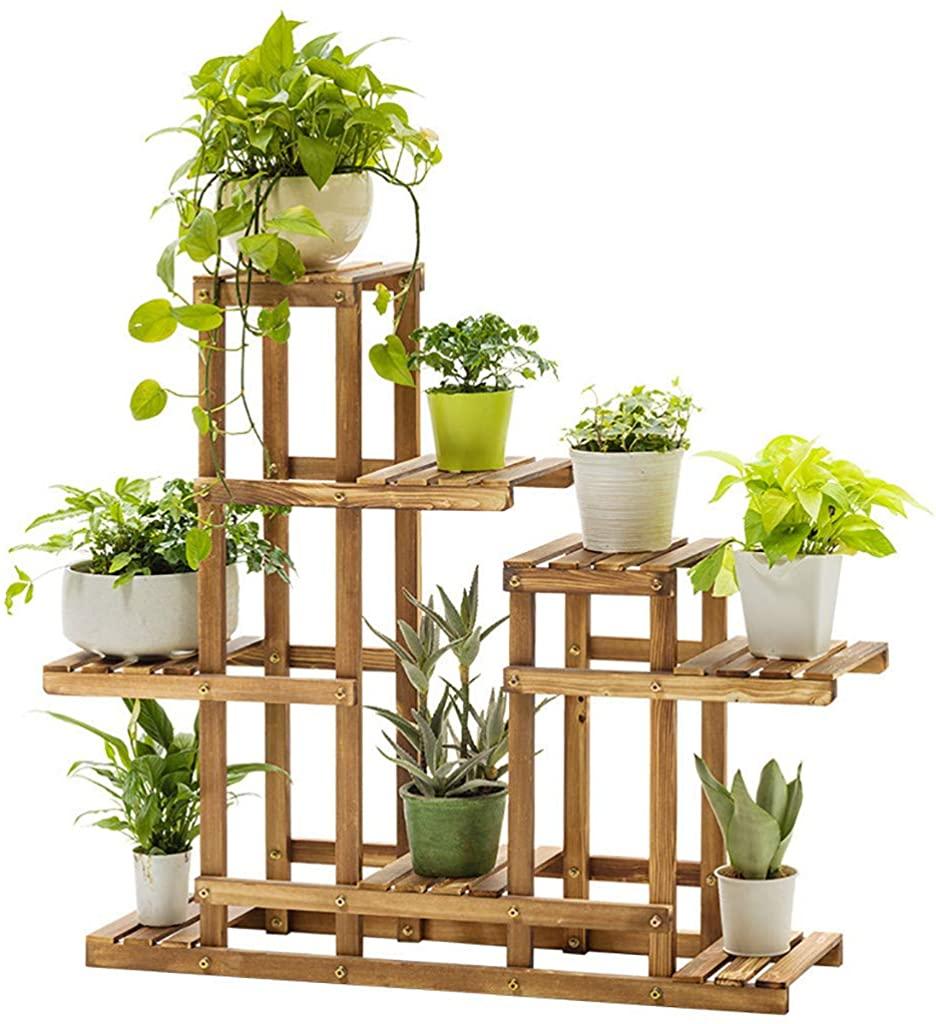 Goiwiejhg Multi-Tier Wood Plant Stand Planter Rack Flower Pots Holder Display US Stock