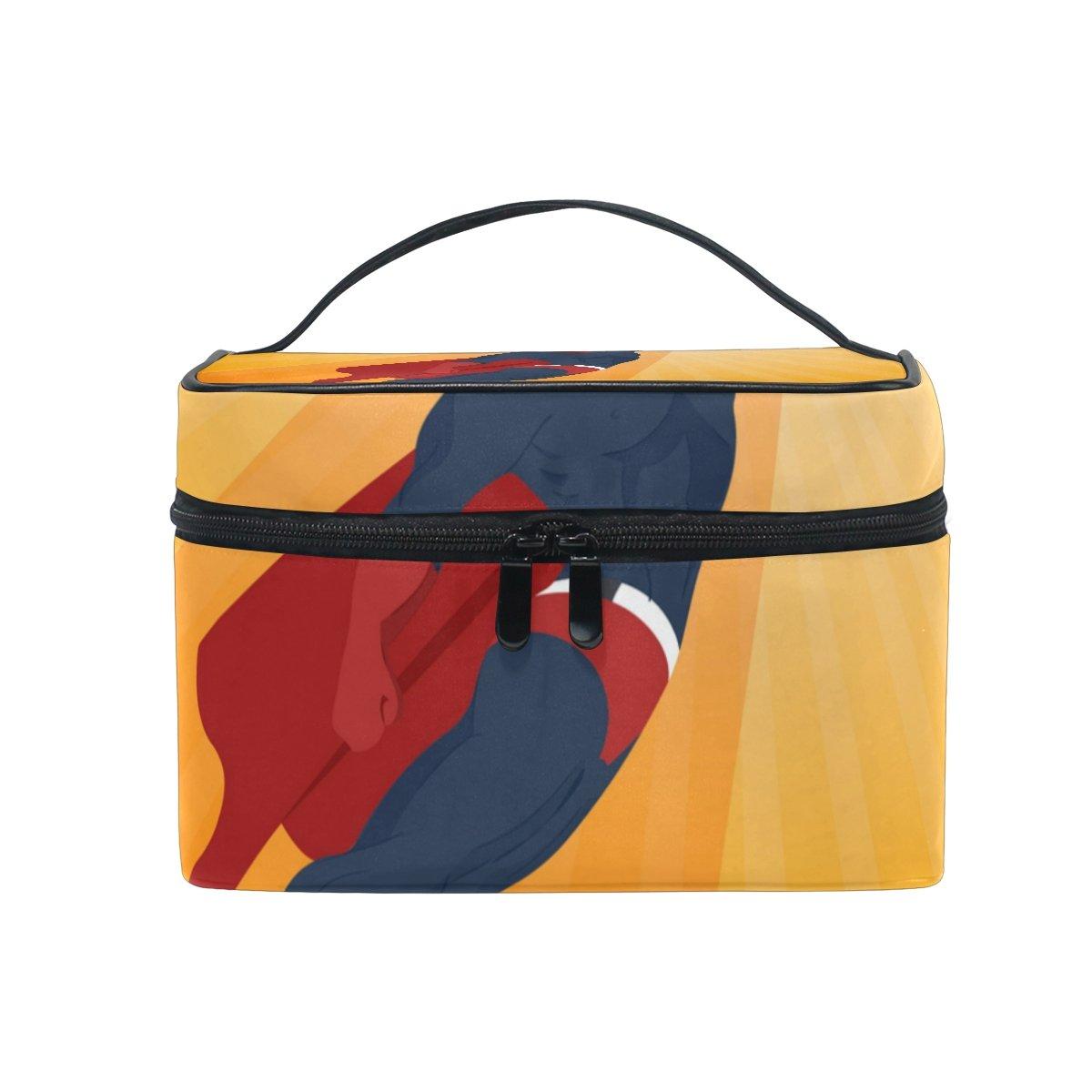 OREZI Superhero Travel Makeup Case Cosmetic Bag for Girl Women, Large Capacity and Adjustable Makeup Bags Travel Waterproof Toiletry Bag Accessories Organizer