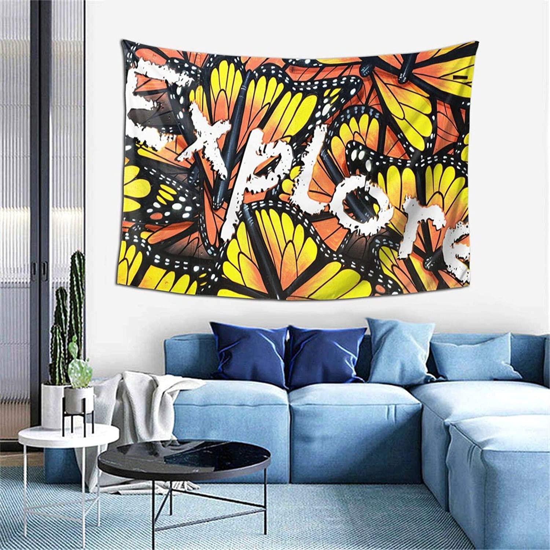 Butterfly Polyester Soft Tapestry Wall Hanging Art Decor Bedroom Living Room Door Balcony Bathroom Kitchen Dorm