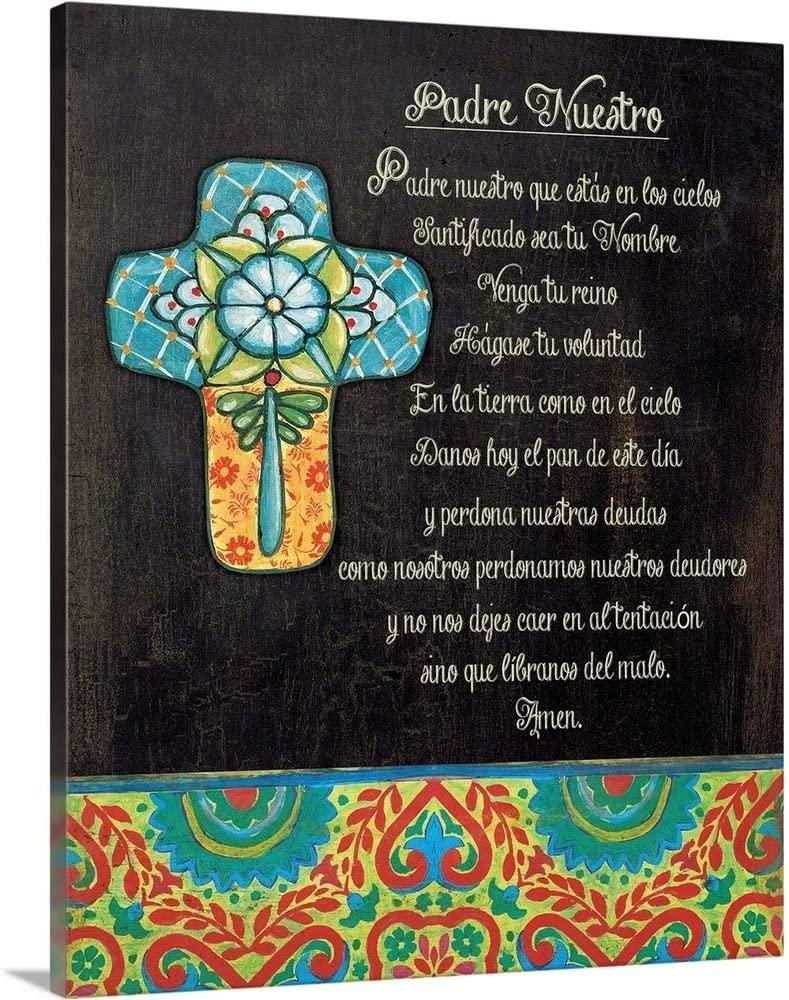 The Lords Prayer Canvas Wall Art Print, 36x45x1.25