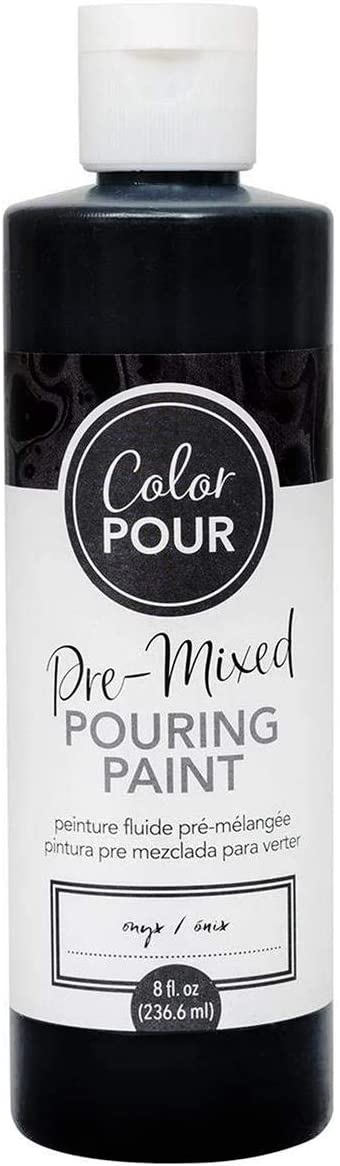 AMERICAN CRAFTS COLOR POUR PAINT 8OZ ONYX, other