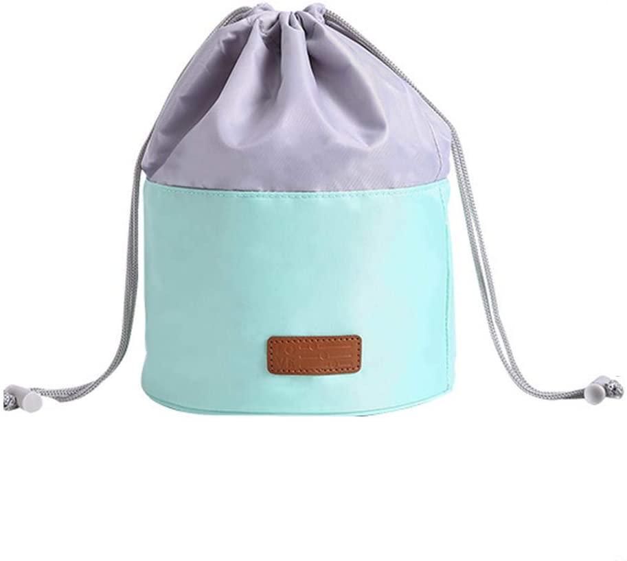 FEIlei Cosmetic Bag, Multifunctional Cosmetic Bag Makeup Pouch Toiletry Travel Drawstring Organizer-Green