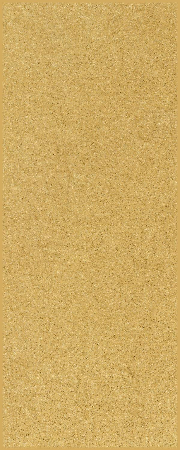 Home Queen Solid Color Custom Size Runner Area Rug Yellow, 2' x 3'