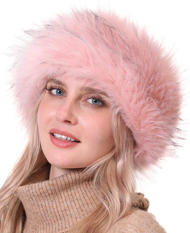 Faux Fur Headband with Elastic for Women's Winter Earwarmer Earmuff