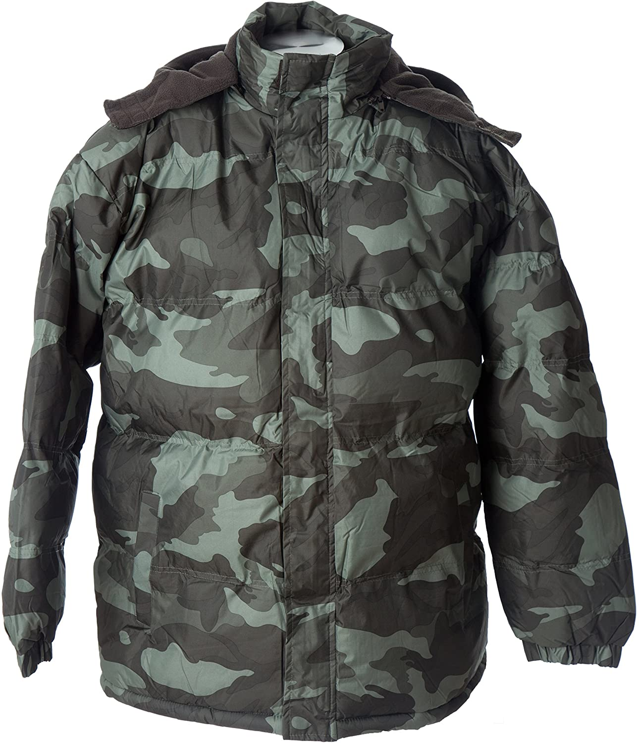 Polar Ice Lion Force Mens' Warm Camouflage Hooded Hunting Jacket Puffer Winter Coat