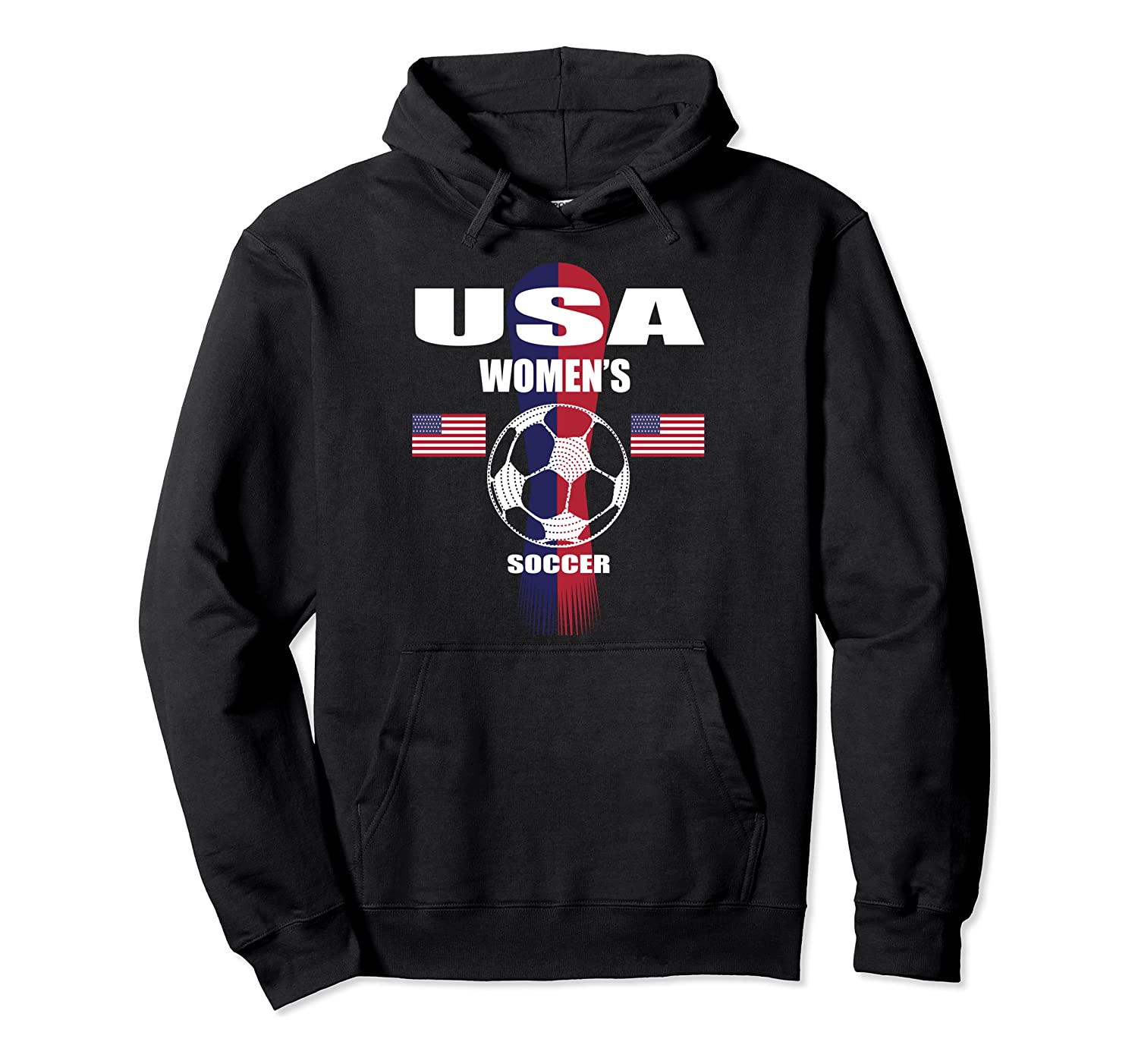 Women Soccer Team T-Shirt USA United States Soccer Fan Woman Pullover Hoodie