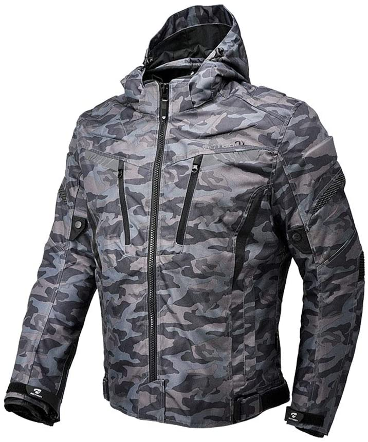 Motorcycle Camo Riding Jacket,All Seasons Waterproof Removable CE Armored Anti-impact Thermal Motorbike Jacket for Men (L)