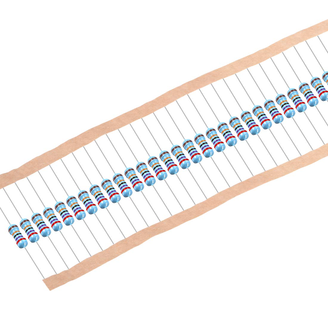 uxcell 100Pcs 270K Ohm Resistor, 1/2W 1% Tolerance Metal Film Resistors, Axial Lead, 5 Bands for DIY Electronic Projects and Experiments