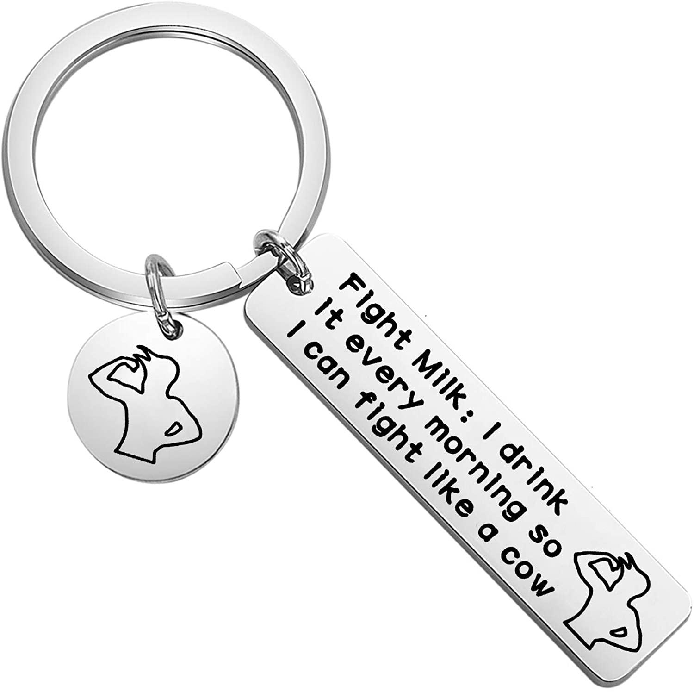 Zuo Bao Fight Milk Keychain It's Always Sunny in Philadelphia Wiki TV Show Lover Gift Based Gift Based Gift Ideas for Bodyguards