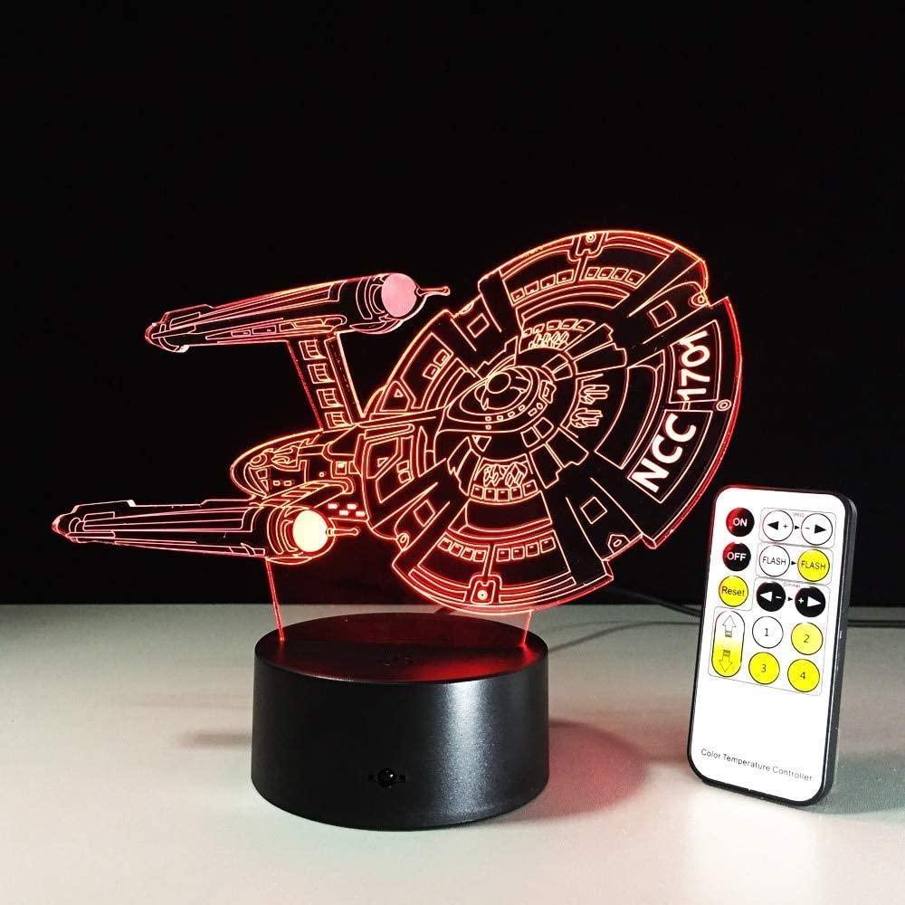 KLJLFJK 7 Color 3D Night Light Remote Touch Control 3D LED Lamp 5V USB Light 7 Colors Change Lava Lamp Gift for Kids Room