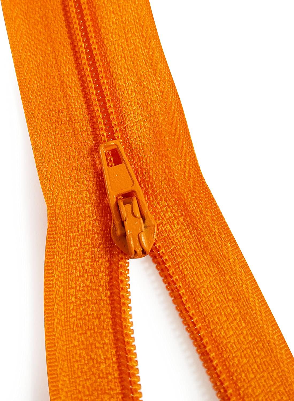 KGS 9 inch Nylon Zipper Zipper   12 Zipper/Pack (Orange)
