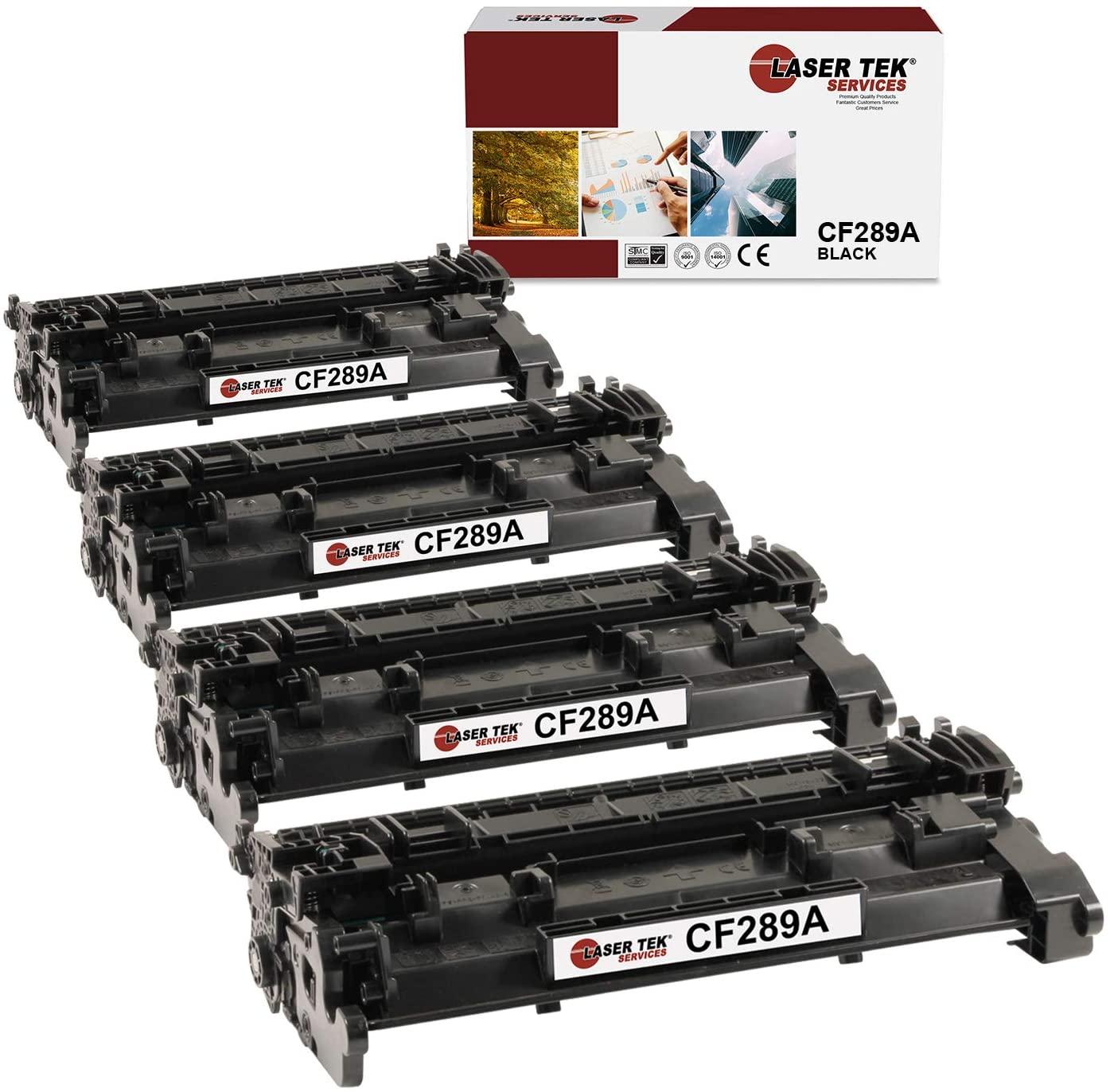 Laser Tek Services Compatible HP 89A CF289A Toner Cartridge Replacement for HP Laserjet Enterprise M507, MFP M528 Printers (Black, 4 Pack) - 5,000 Pages