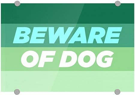 CGSignLab |Beware of Dog -Modern Gradient Premium Acrylic Sign | 18x12