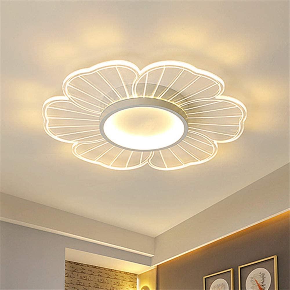 NIUYAO Modern Ceiling Light Ultra-Thin Flush Mount White Flower Shape Contemporary Acrylic LED White Flush Lamp Fixture (Bulb Included) -20.5