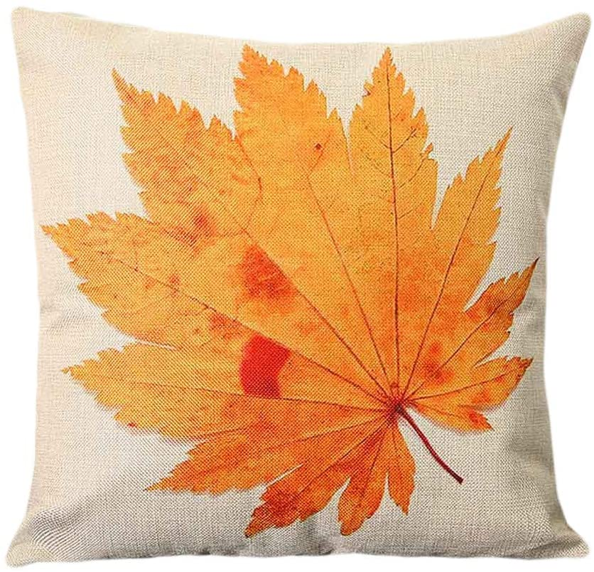 Rutildy Maple Leaf Soft Decorative Square Throw Pillow Cover, Cushion Covers Pillowcase, Home Decor Decorations for Sofa Couch Bed Chair 18x18 Inch/45x45 cm (A)
