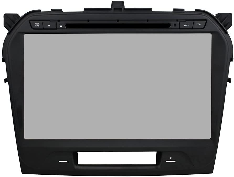 KUNFINE Android 8.0 Otca Core Car DVD GPS Navigation Multimedia Player Car Stereo for Suzuki Vitara 2015 2016 Steering Wheel Control 3G WiFi Bluetooth Free Map Update 10.1 Inch