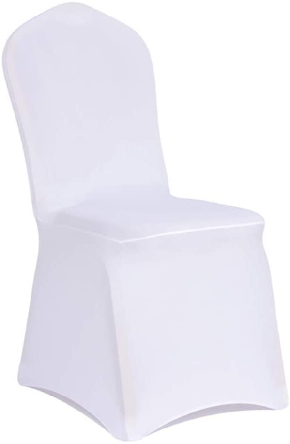 WENSINL Set of 100pcs White Spandex Stretch Chair Covers for Wedding Banquet Party Dining Decoration (100)