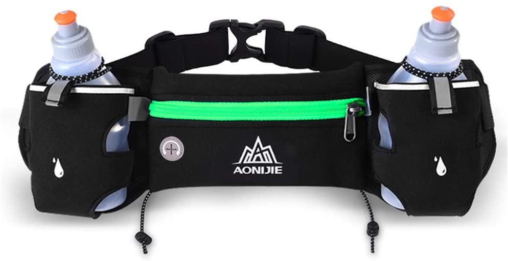 AONIJIE Running Belt with 250ml Bottles Men Women Hydration Waist Pack for Cycling Marathon Race Hiking Climbing