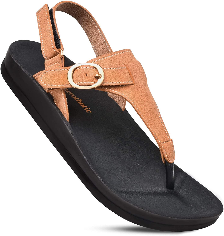 AEROTHOTIC Women's Ridge Arch Support Slingback Sandals