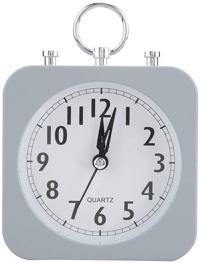 TKSE KSTE Vintage Classic Silent Desktop Alarm Clock Loud Ringing Bell for Sleeping,Studying,Light