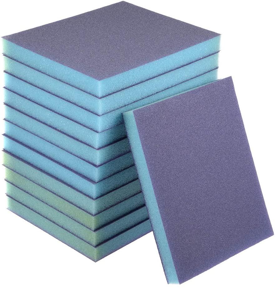 uxcell Sanding Sponge Sanding Blocks 150-Grits Medium Grit Sand Block Pad for Metal Wood 12pcs