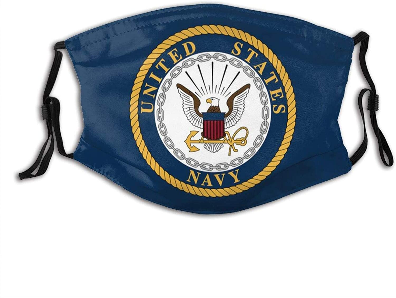 US Navy Face Mask Scarf, Washable & Reusable Dust-Proof Bandana With 2 Filters, For Men & Women Party Cosplay