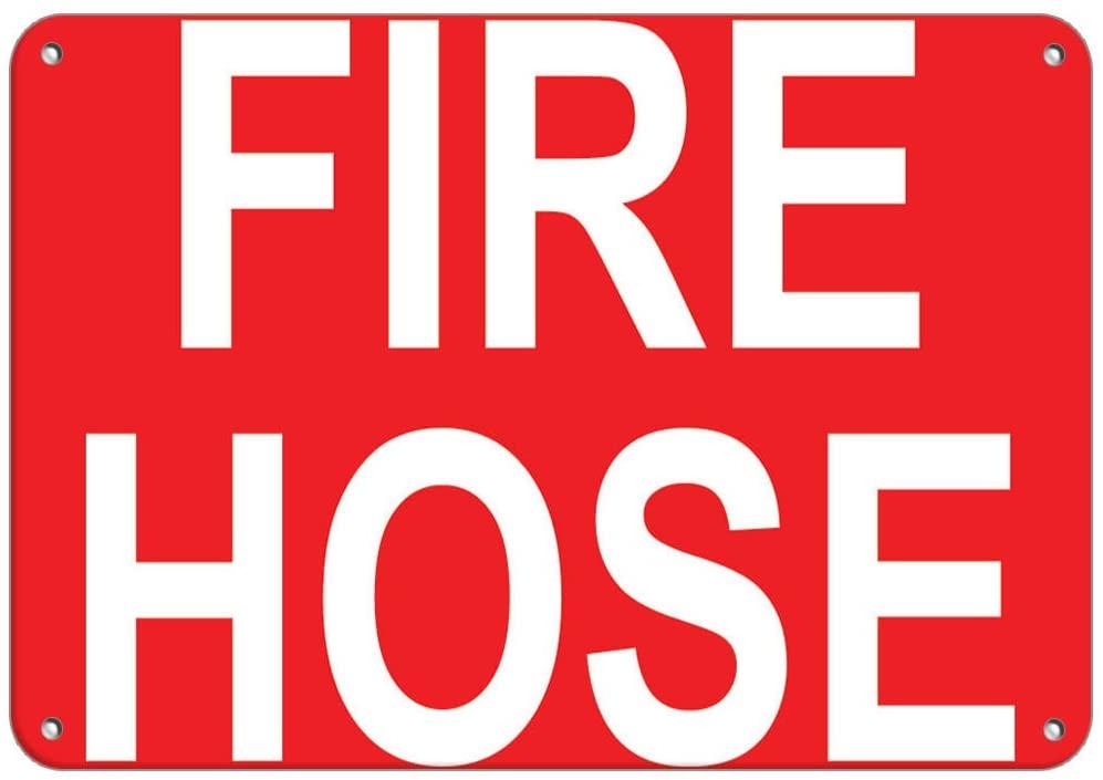 Fire Hose Style 2 Hazard Sign Fire Sign Vinyl Sticker Decal 8