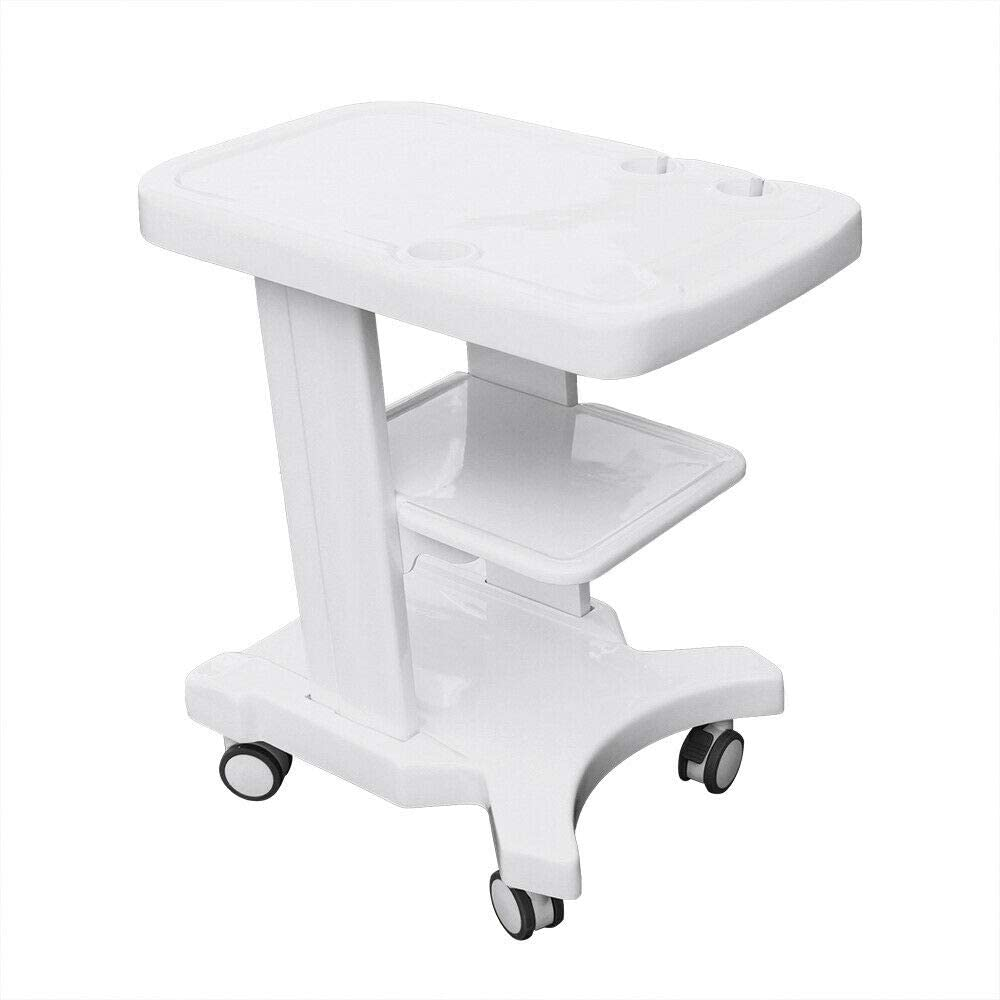3-Tier Mobile Trolley Cart,Portable Ultras-ound Cart Mobile De-ntal Equipment Tool Cart Rolling Cart Utility Trolley Beauty Salon Cart with 4 Caster Wheels for Carrying B-ultr-asonic Machine
