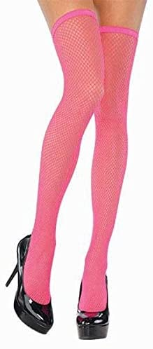 amscan Neon Thigh Highs Fishnet Stockings - Adult Standard