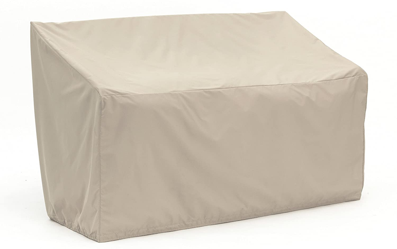 Covermates Outdoor Patio Loveseat Cover – Heavy-Duty Polyester, Elastic Hem, Seating and Chair Covers - Khaki