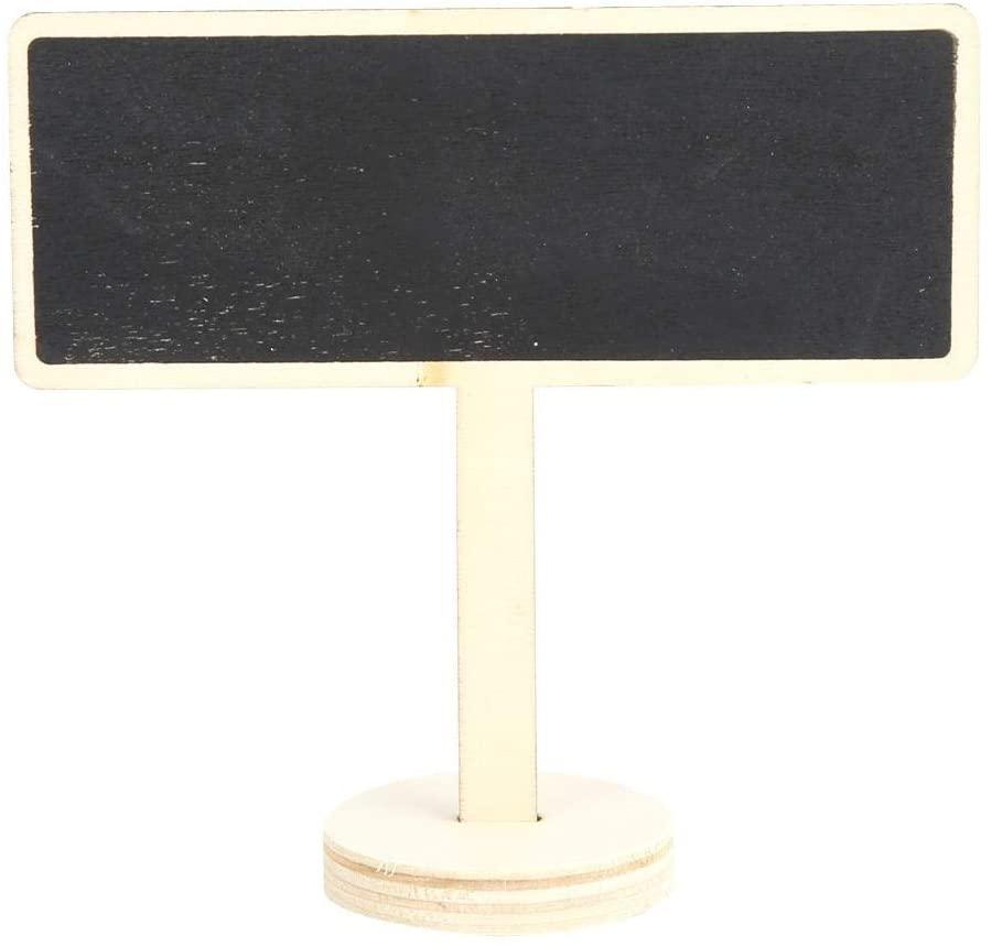 HERCHR 20Pcs Plant Labels Tags Mini Blackboard Sign Message Board for Garden Wedding Decoration