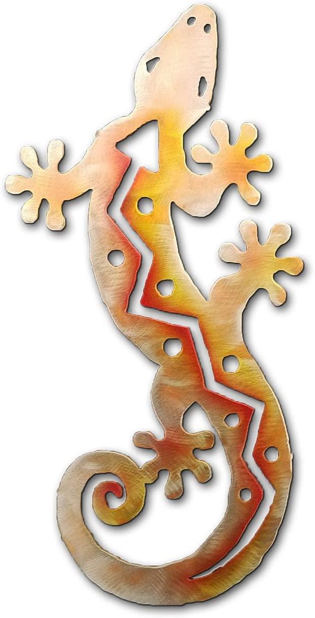 S-Shaped Gecko - 24-inch - Sunset Swirl