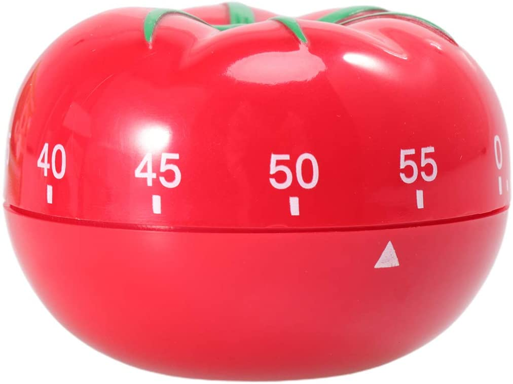 DOITOOL Kitchen Timer Cute Tomato Kitchen Timer Novelty Manual Cooking Timer Fun Shaped Mechanical Timer for Kitchen Alarm Home Study