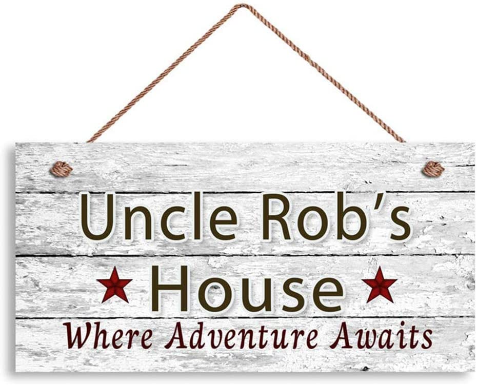 MAIYUAN Wood Sign Uncle Sign, Where Adventure Awaits, Custom Name Sign, Personalized Gift for Uncle, Uncle's House 5