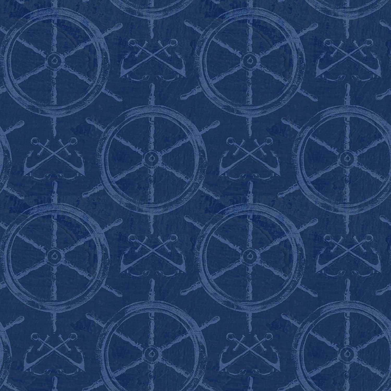 Paul Brent PB Boat Wheels 100% Cotton Prints Fabric 44