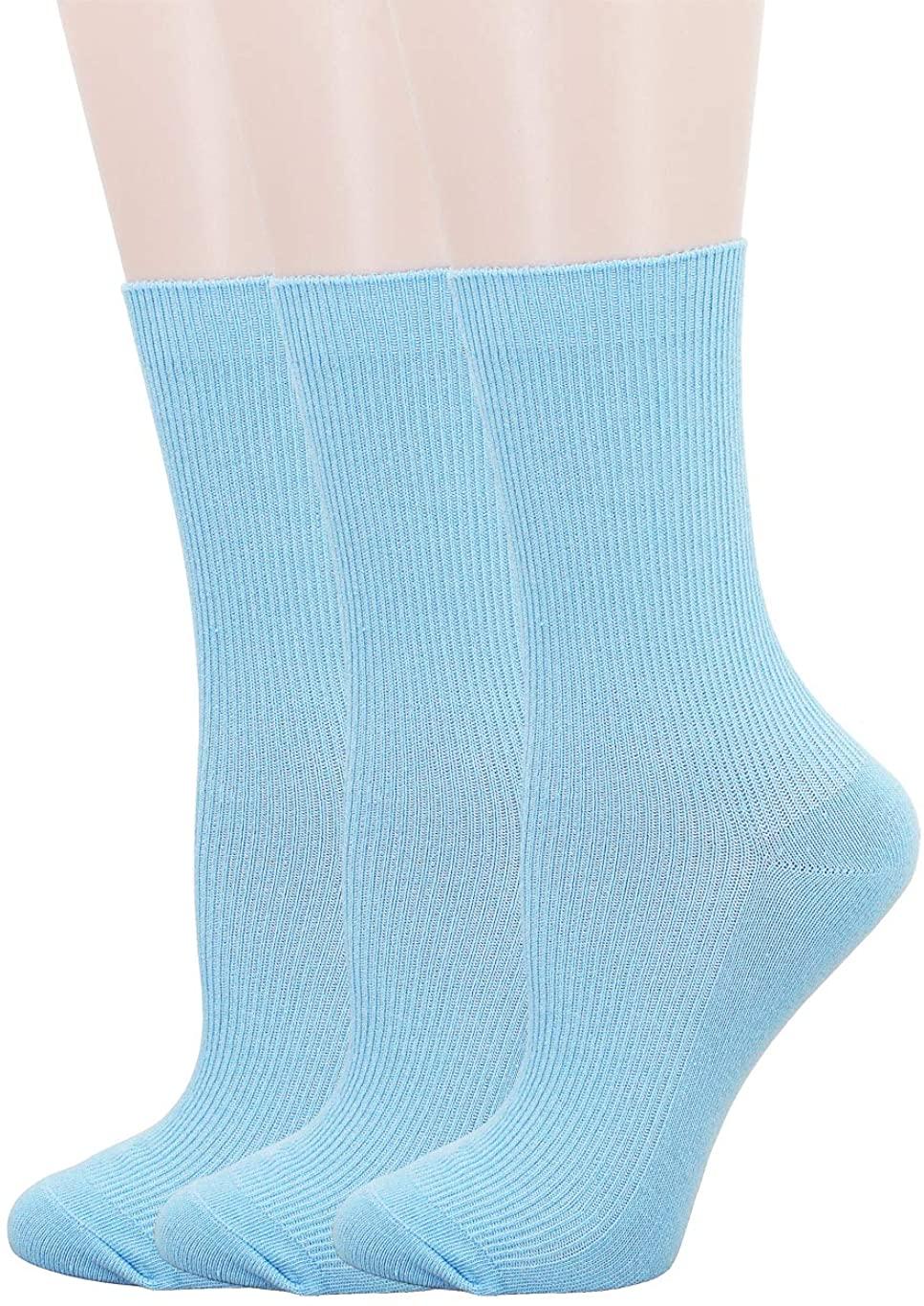 SRYL Womens Cotton Socks High Ankle