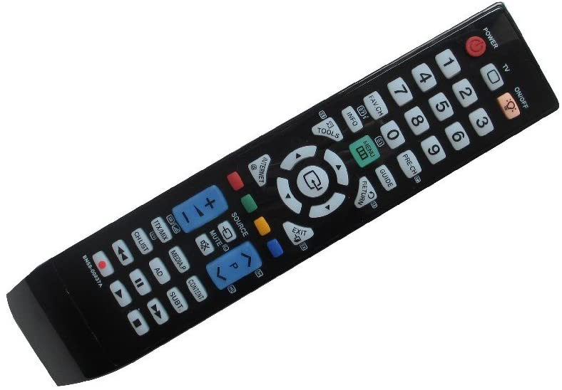 Hotsmtbang Replacement Remote Control For Samsung PN50B650C1F PN50B650S1F LE40A616A3F PL50A650T1RXZP PL58A550 PL63A750T1FXRL LCD LED HDTV TV