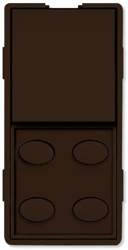 Simply Automated UPB Faceplate, Single Rocker & 4 Oval Buttons, Brown (ZS25O-BN)