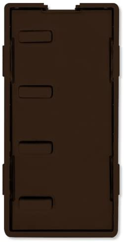 Simply Automated UPB Faceplate, 4 Bar Buttons, Brown (ZS24B-BN)