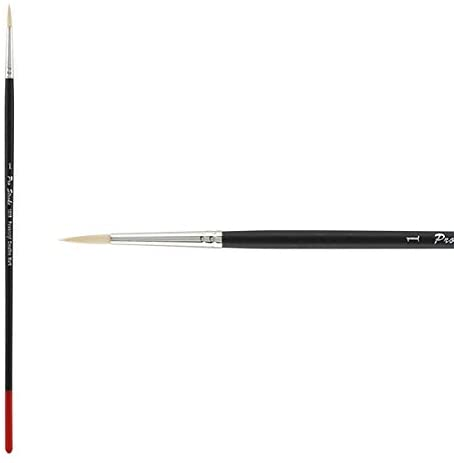 Creative Mark Pro Stroke Powercryl Paint Brush Professional Acrylic Brush with Synthetic Hair Filament Use with Acrylic Paint and Water Soluble Oils - Single Brush Only - Round 1