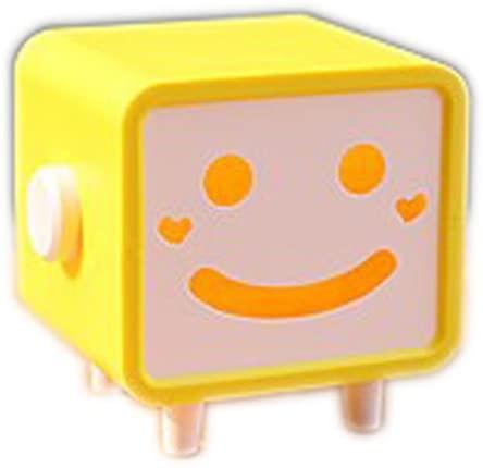 PANDA SUPERSTORE Newfangled Practical Gift Original Lovely Tissue Box Smiling Yellow Tissue Box