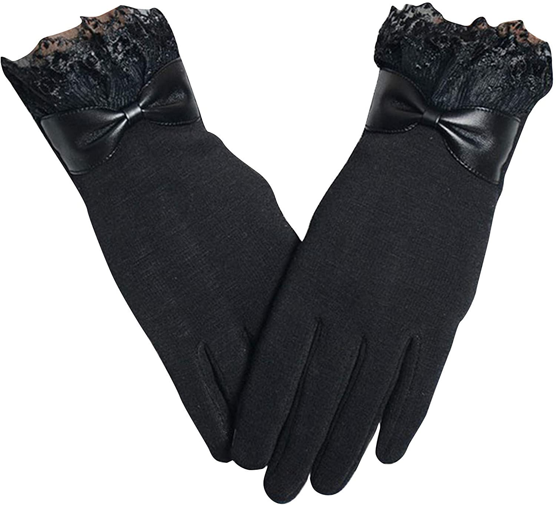 Womens Touch Screen Gloves Non-fleece Gloves Winter Warm Wear Windproof Gloves for Winter Using