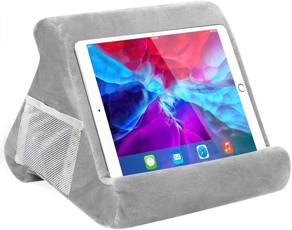 SuperLee Pad Pillow, Tablet Stand Pillow for iPad, Multi-Angle Soft Pillow Lap Stand Holder for Tablets, eReaders, Smartphones, Books, Magazines